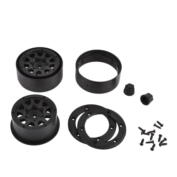1.9 Inch Plastic Beadlock Wheel Rim for 1/10 RC Crawler