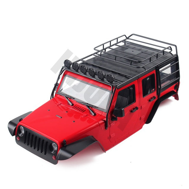 313mm Wheelbase Jeep JKU Wrangler Unlimited Body Shell + Bonus Metal Roof Rack | 7 Colors Available