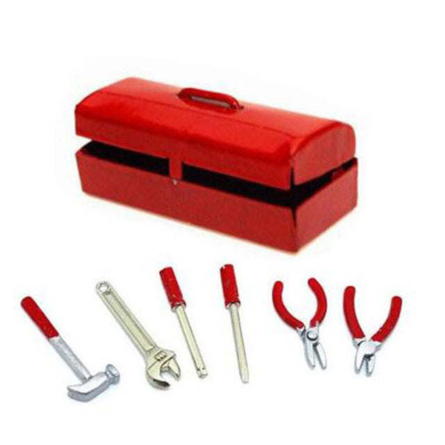 Scale Metal Tool and Toolbox Set- 7 piece