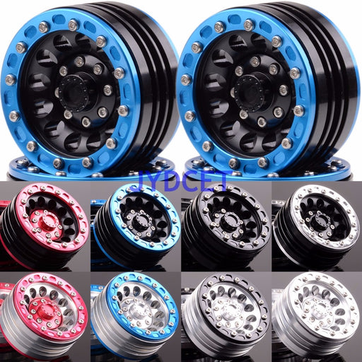 "1.9"" 12 Hole Beadlock Aluminium Wheels For 1/10 Rock Crawler Axial SCX10 D90 TRX-4 