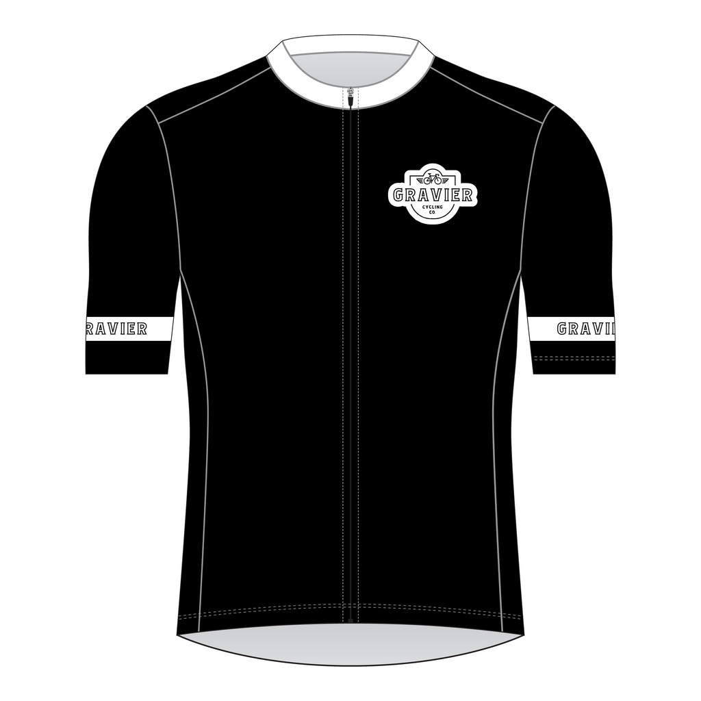 Gravier Men's Cycling Jersey - Black Core