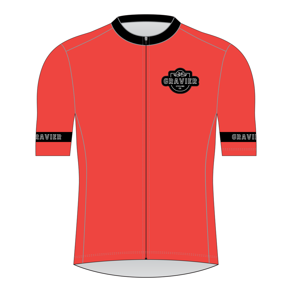 Gravier Men's Cycling Jersey - Blood Orange Core