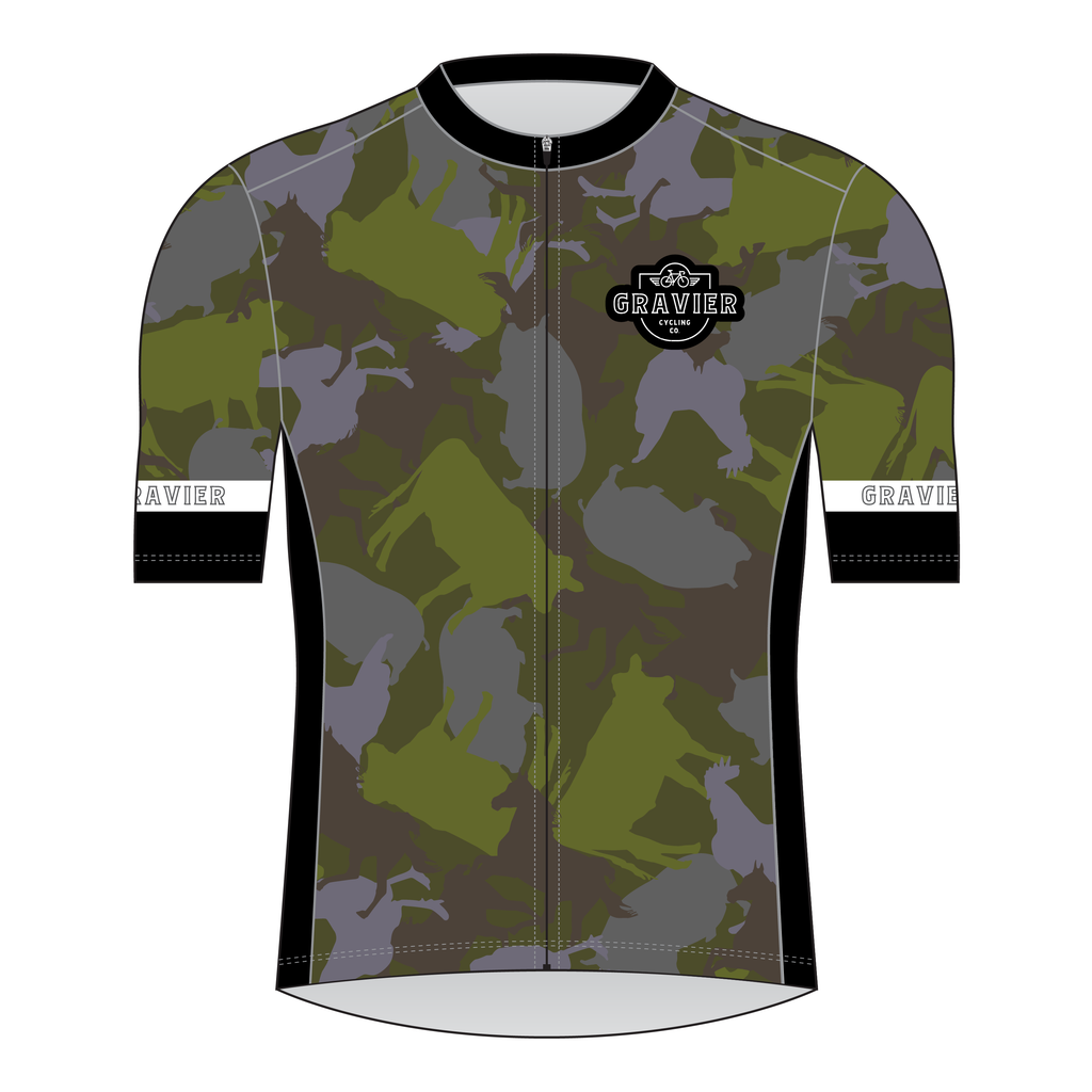 Gravier Men's Cycling Jersey - Farm Camo