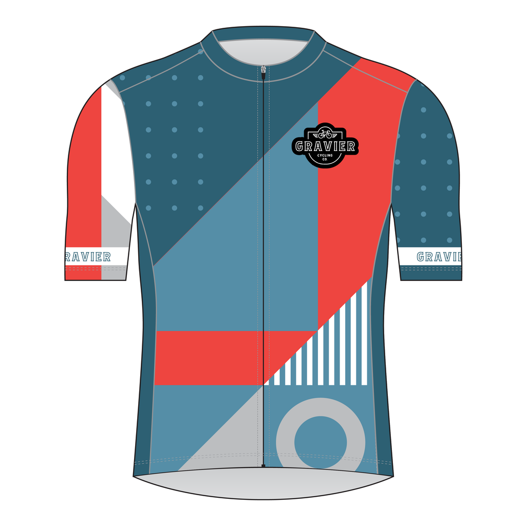 Gravier Men's Cycling Jersey - Full Geo