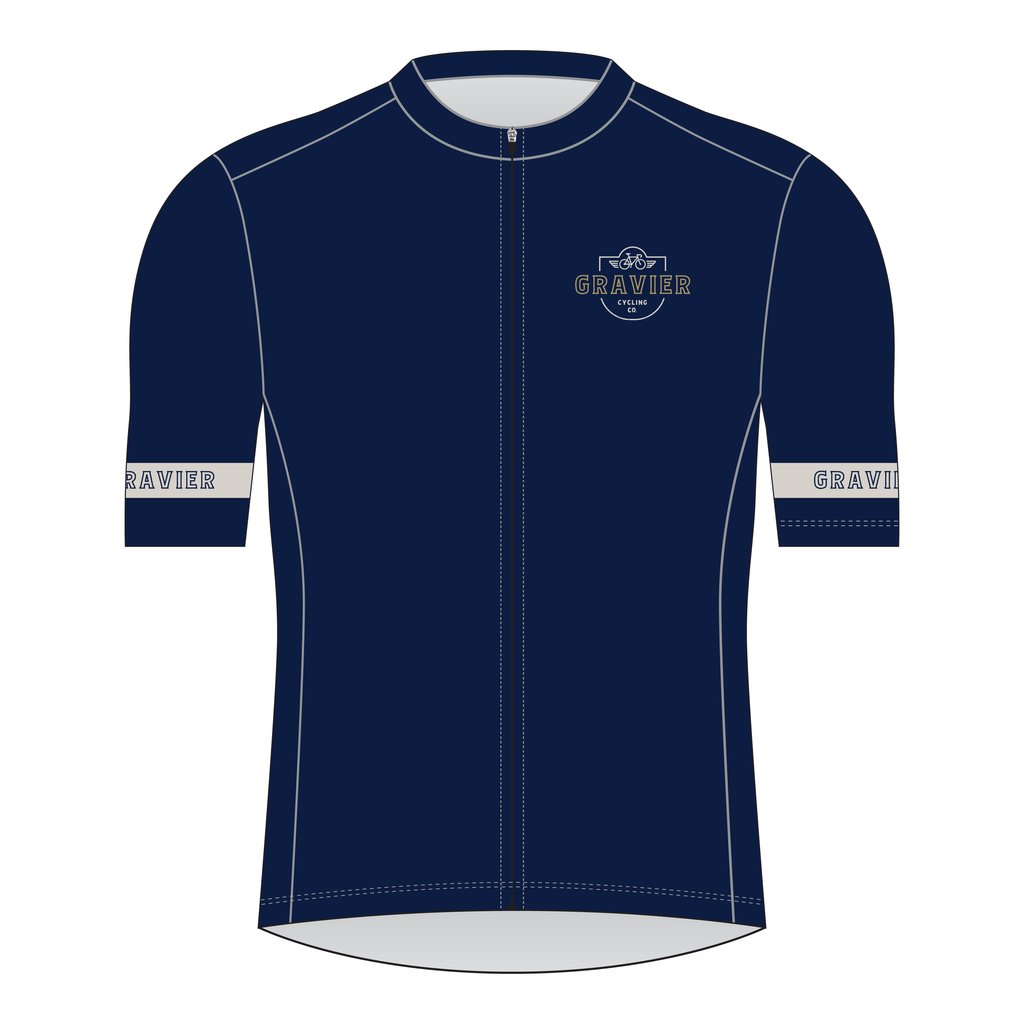 Gravier Men's Cycling Jersey - Blue Core