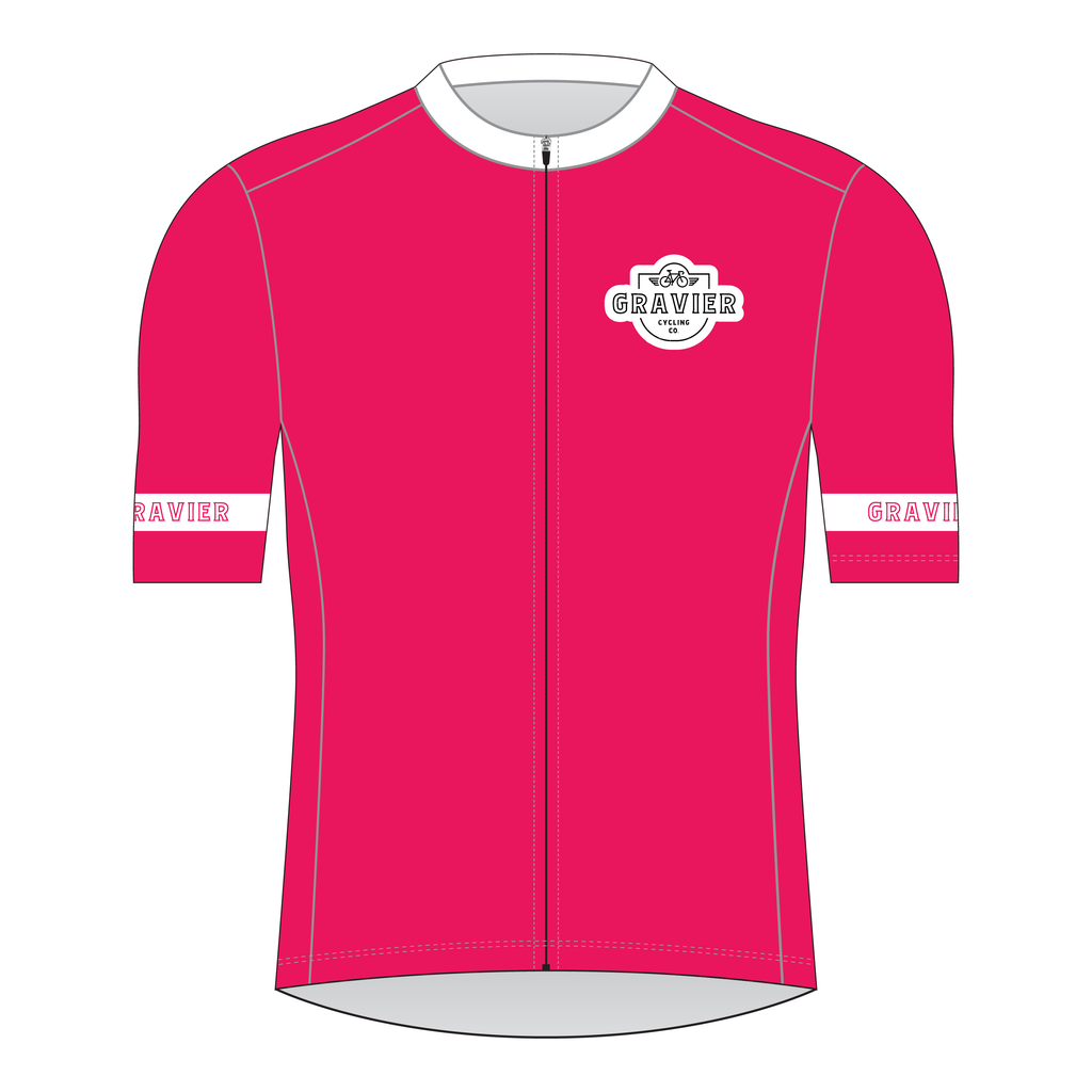 Gravier Women's Cycling Jersey - Bright Ruby