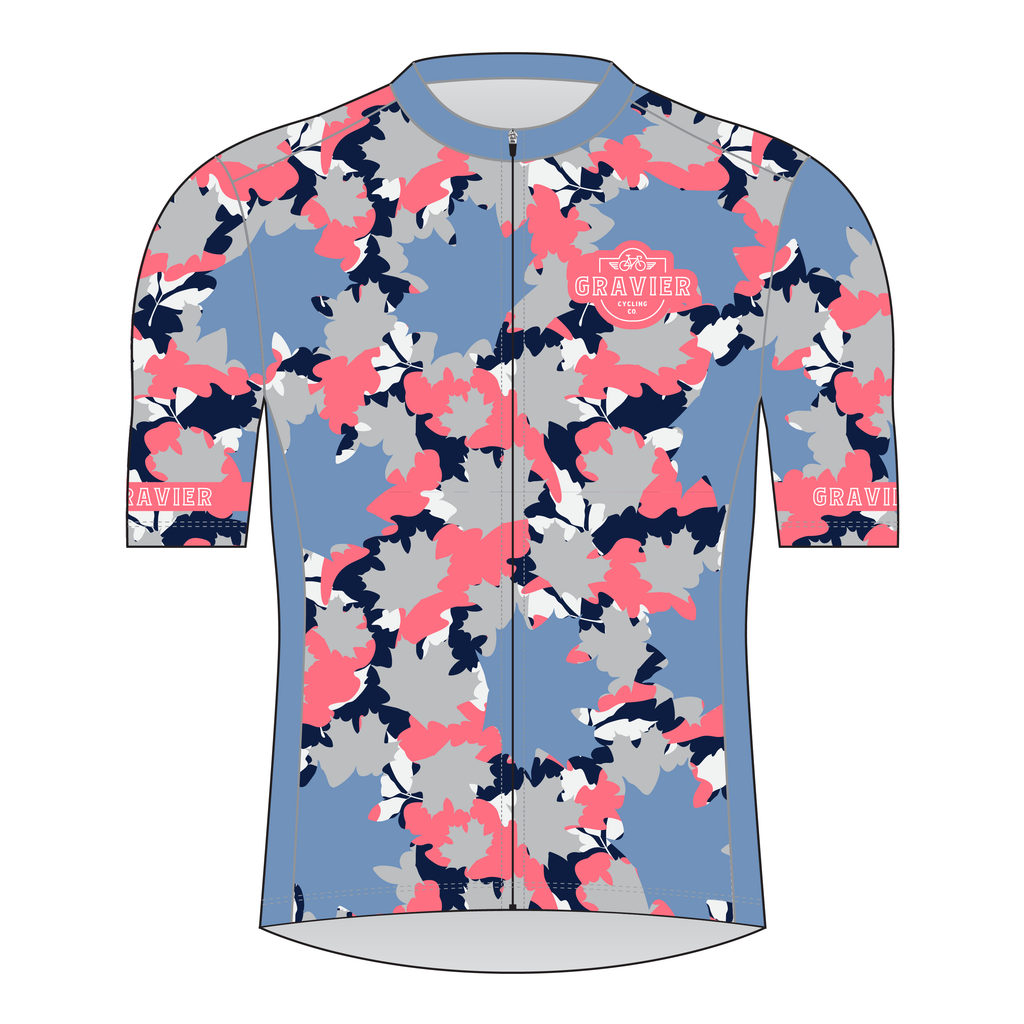 Gravier Women's Cycling Jersey - Leaf Camo