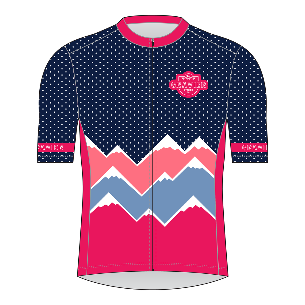 Gravier Women's Cycling Jersey - Mt Dots