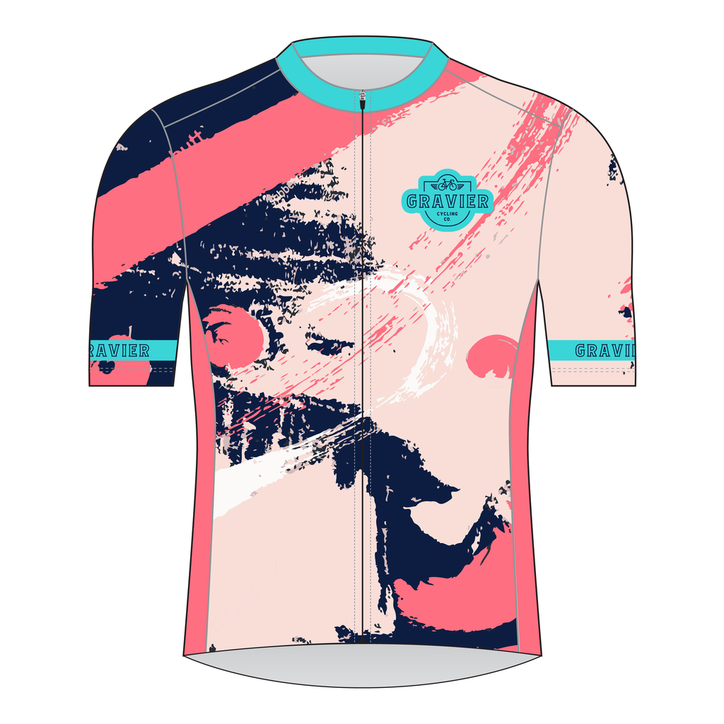 Gravier Women's Cycling Jersey - Paint Strokes