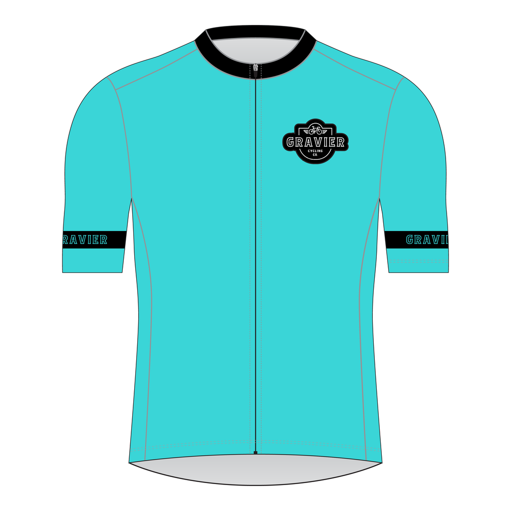 Gravier Women's Cycling Jersey - Aqua Core