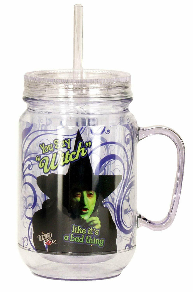 Spoontiques 17908 You Say Witch Mason Jar, 18 ounces, Purple