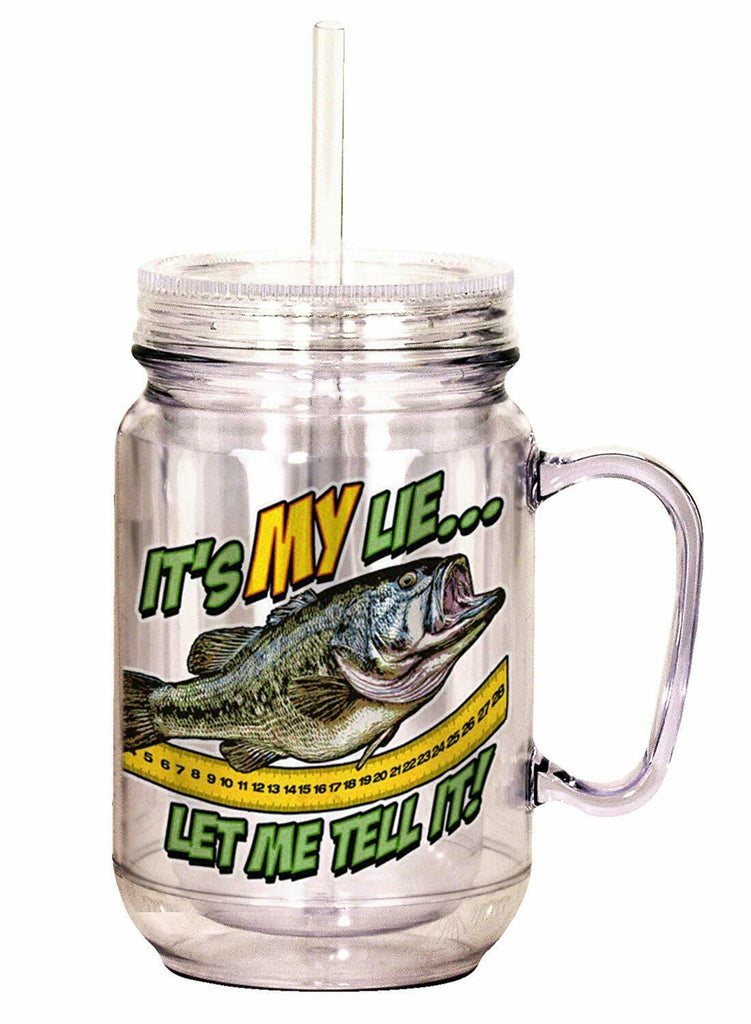 "Spoontiques""It's My Lie, Let Me"" Mason Jar, 18 Ounces, Multicolor"