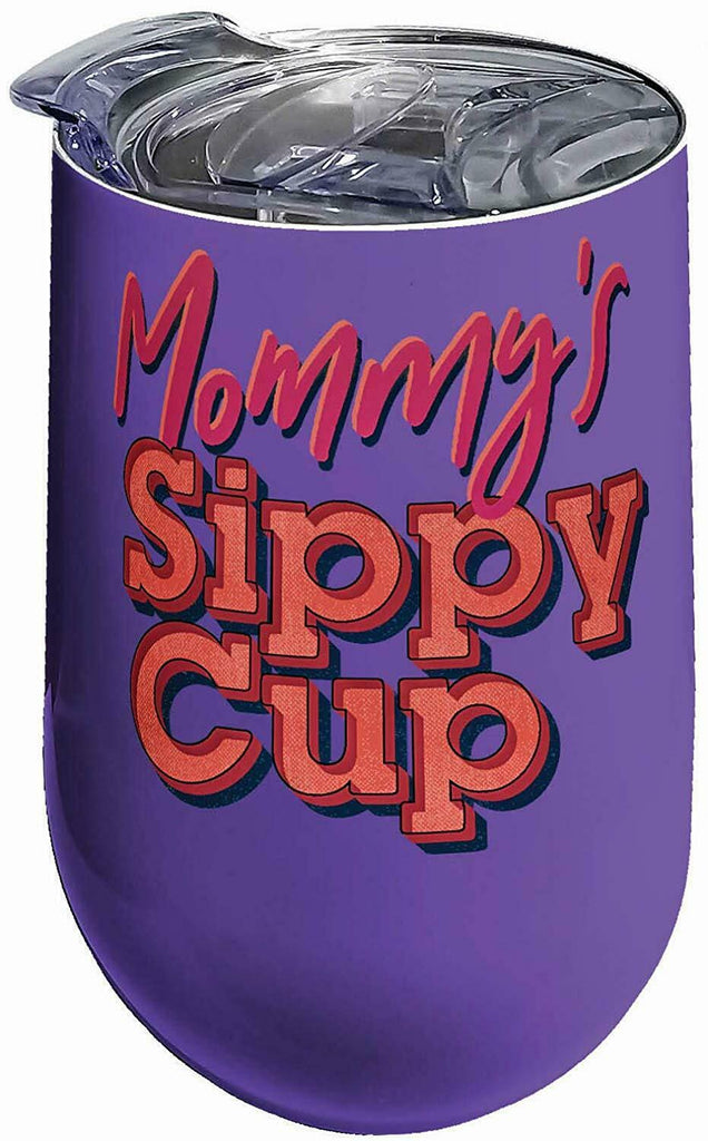 Spoontiques 16967 Mommy's Sippy Cup Stainless Steel Tumbler, 14 ounces, Purple