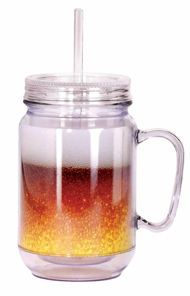Spoontiques 17919 Beer Mason Jar, 16 ounces, Gold