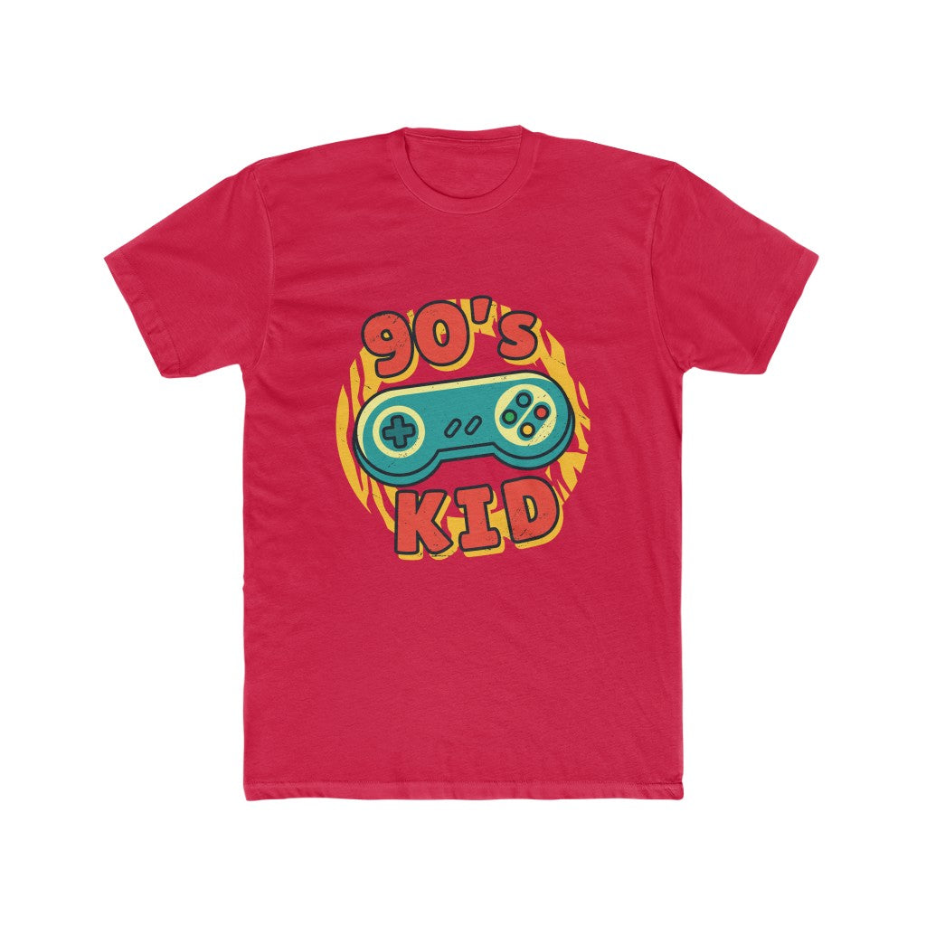 90s Kid Super Nintendo Controller Men's Cotton Crew Tee