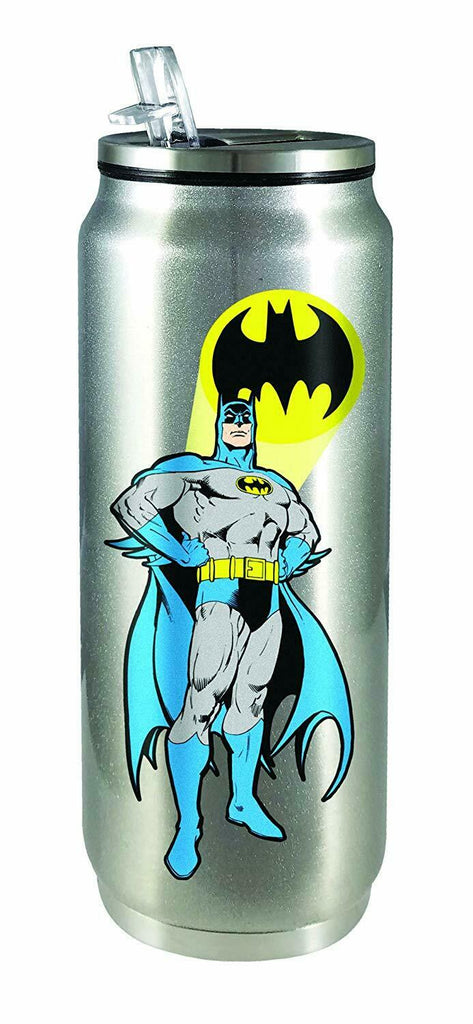 Spoontiques 20920 Batman Stainless Steel Beverage Can, One Size, Silver