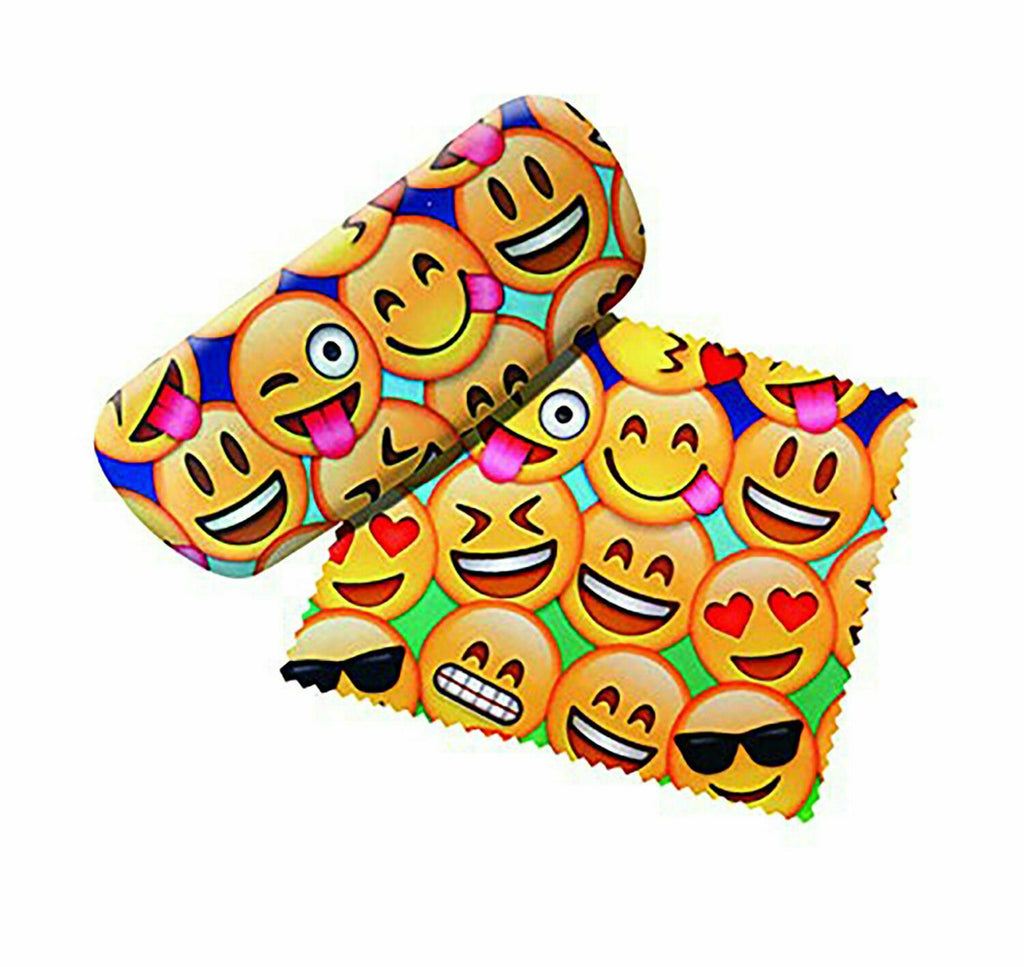 Spoontiques 13692 Emojis Eye Glass Case with Matching Lens Cloth