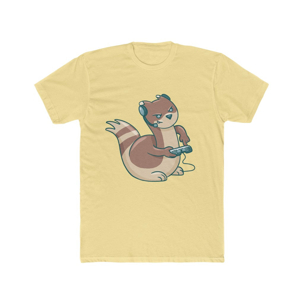 Gaming Ferret Retro Men's Cotton Crew Tee