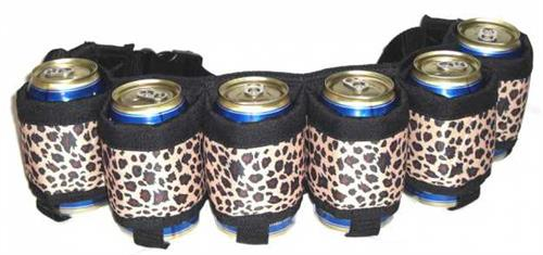 Beer Belt - Leopard Print