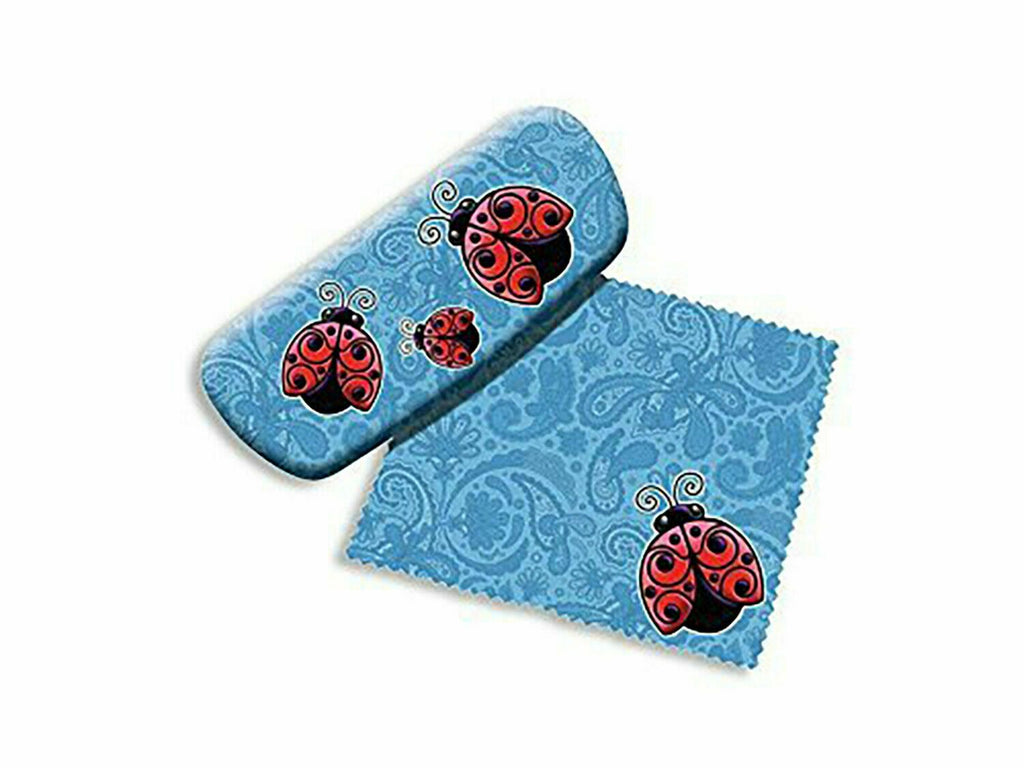Spoontiques 13652 Ladybugs Hard Eyeglass Case with Matching Cleaning Cloth
