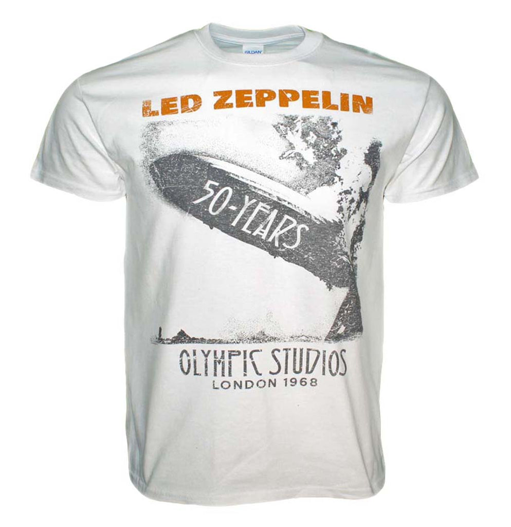 Led Zeppelin Blimp 50 Years T-Shirt
