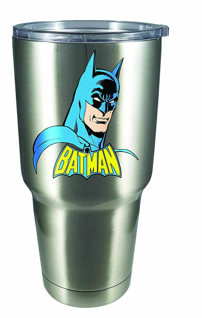 Spoontiques Batman Large Stainless Steel Mug, 30 ounces, Silver Drink 18462