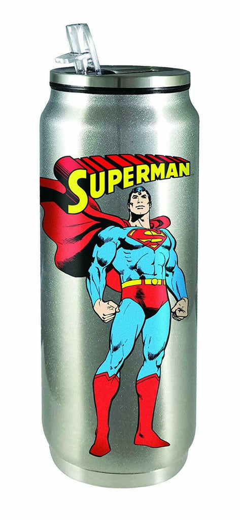 Spoontiques 20921 Superman Stainless Steel Beverage Can, One Size, Silver