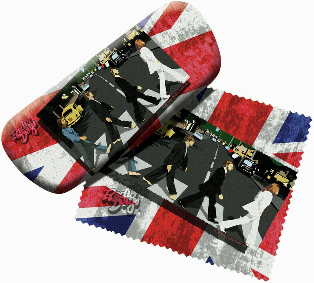 Spoontiques 13672 Padded Beatles FAB 4 Crossing Glasses Case and Lens Cloth