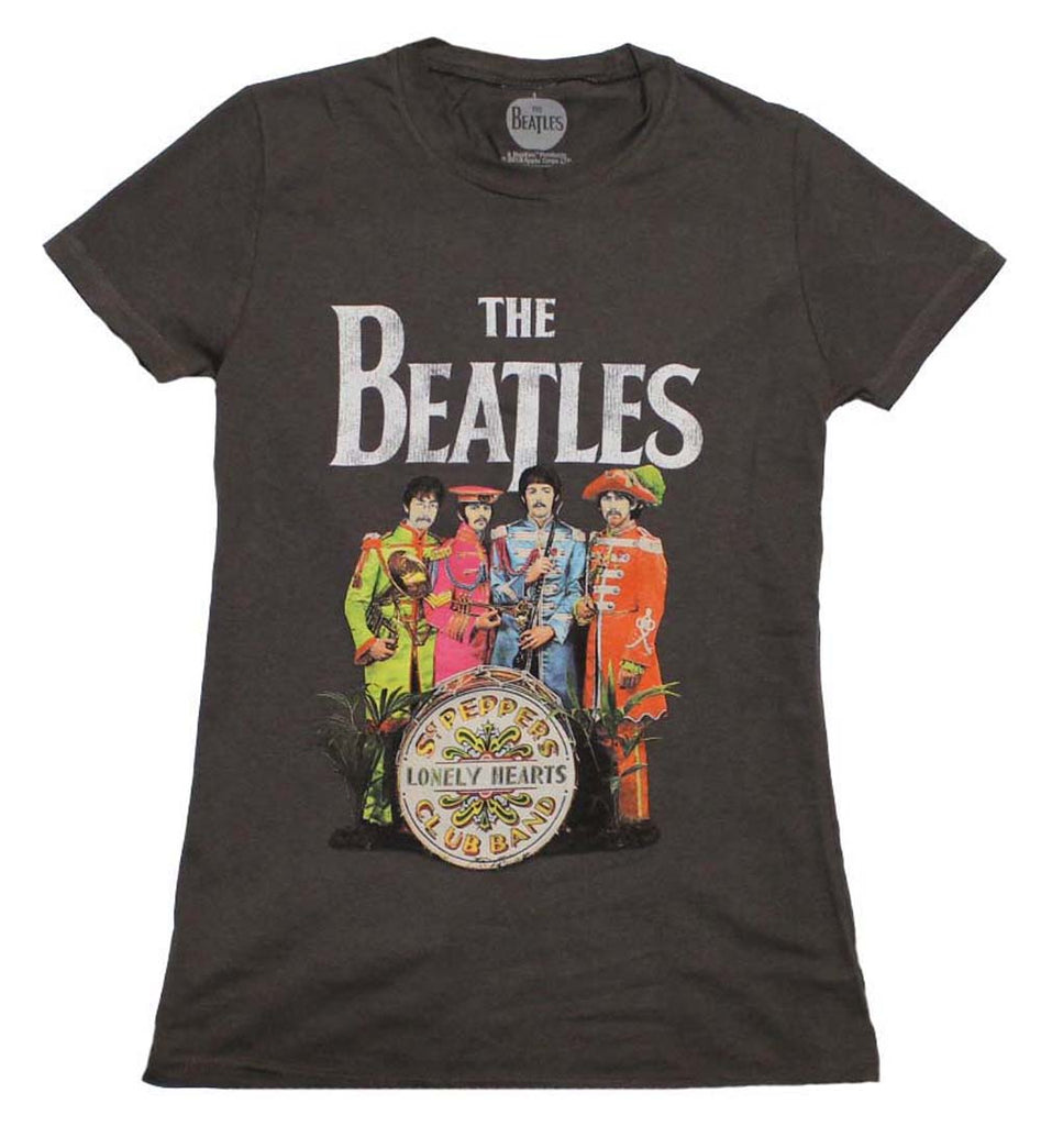 Beatles SGT Peppers Charcoal Juniors T-Shirt