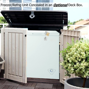 Freezer/Refrigerator PorchBoxDrop Grocery Receiving Unit - 3.5 Cu Ft  - (MAY BE CONCEALED IN A DECK BOX)