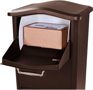 Parcel Box Receiving Station for Home, Business or Apartment - Anchors to Floor - (NO REFRIGERATION OPTION AVAILABLE)