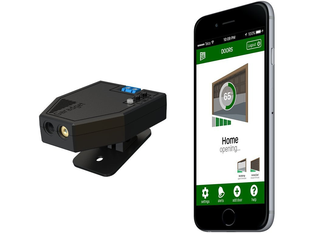 AVAILABLE SOON! Remotely Control and Monitor Your Existing Garage Door with Smartphone to Allow You to Supervise Access For Grocery Delivery