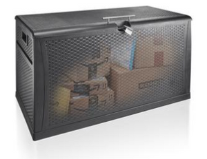 Dark Brown, Wicker-Look, Lockable, WiFi Enabled With App, PorchBoxDrop Storage for Yard, Deck, Garage or Porch (NO REFRIGERATION OPTION AVAILBLE)