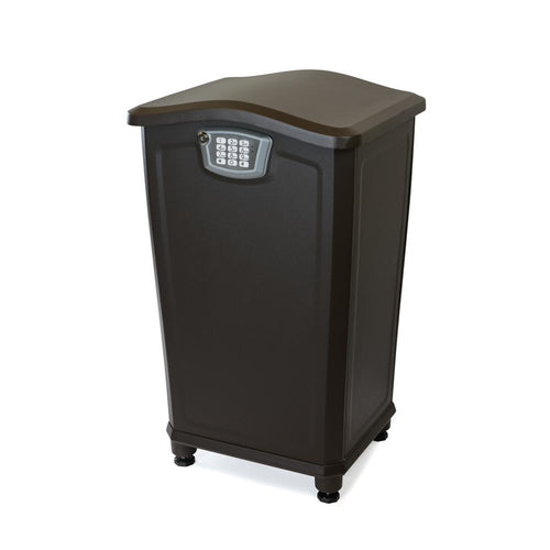 Parcel Box Receiving Station with Built-In Resettable Combination Lock for Home, Business or Apartment - Anchors to Floor - (NO REFRIGERATION OPTION AVAILABLE)