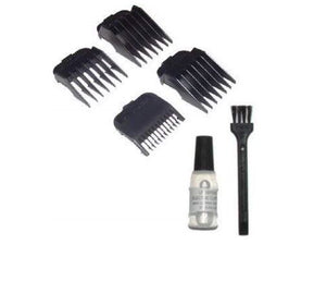 Wahl Attachment comb set nr. 1-4, oil, brush in poly bag