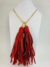 Load image into Gallery viewer, Double Tassel Necklace