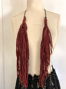 Hippie Double Tassel Versatile Necklace