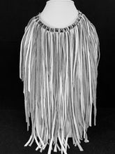 Load image into Gallery viewer, Boho Chic 'Bib Style' Fringe Leather Necklace