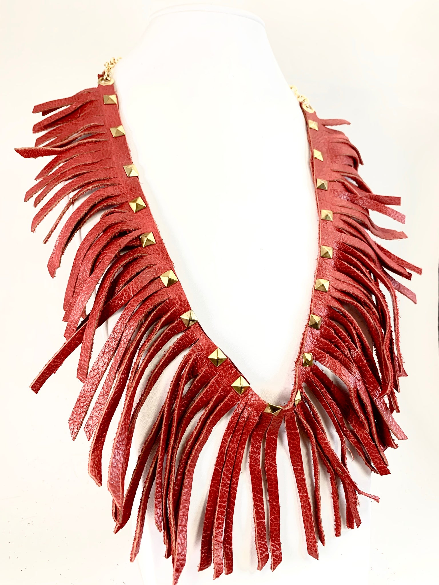 Long Red Wrap-Around Necklace