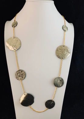 Gold Leaf Circle Necklace