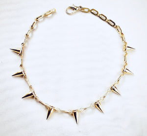 'Best Seller'  The Nora Chain & Spike Necklace in Gold or Silver