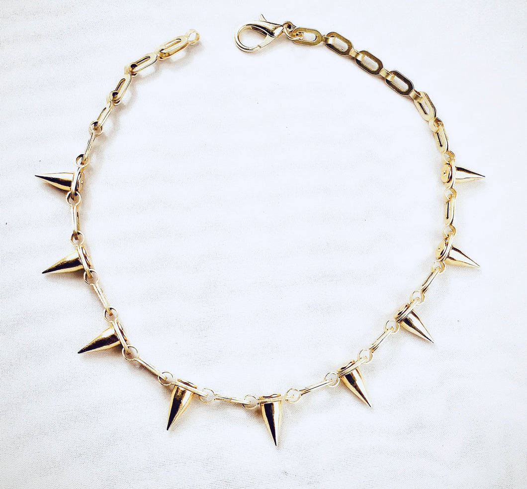 'Best Seller' The Nora Spike Necklace in Gold or Silver