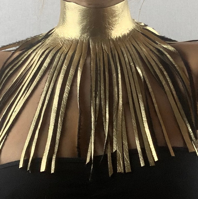 Gold Fashion Statement Necklace