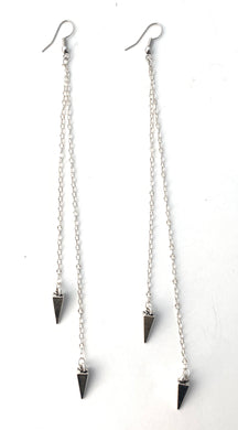 Dangle Chain Earrings in Silver