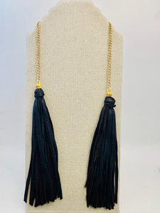 Whip and Chain Tassel Necklace