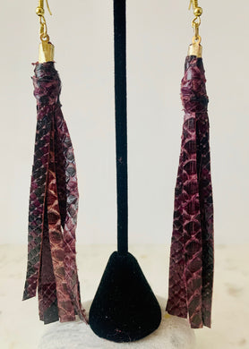 Python Tassel Earrings