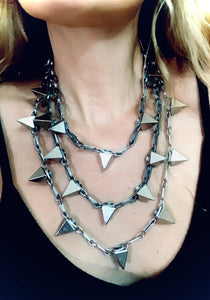 Lucille Layered Pyramid Necklace