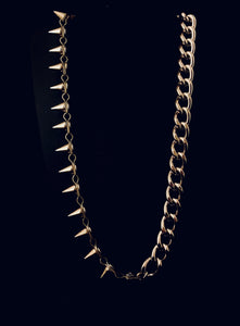 Asymmetrical Chain and Spike Necklace (Gold and Silver)