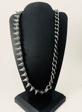 Load image into Gallery viewer, Asymmetrical Chain and Spike Necklace (Gold and Silver)