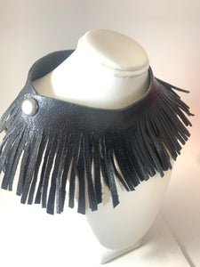 Fringe Leather Necklace